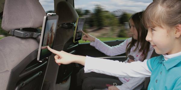 support tablette voiture appui tête enfants