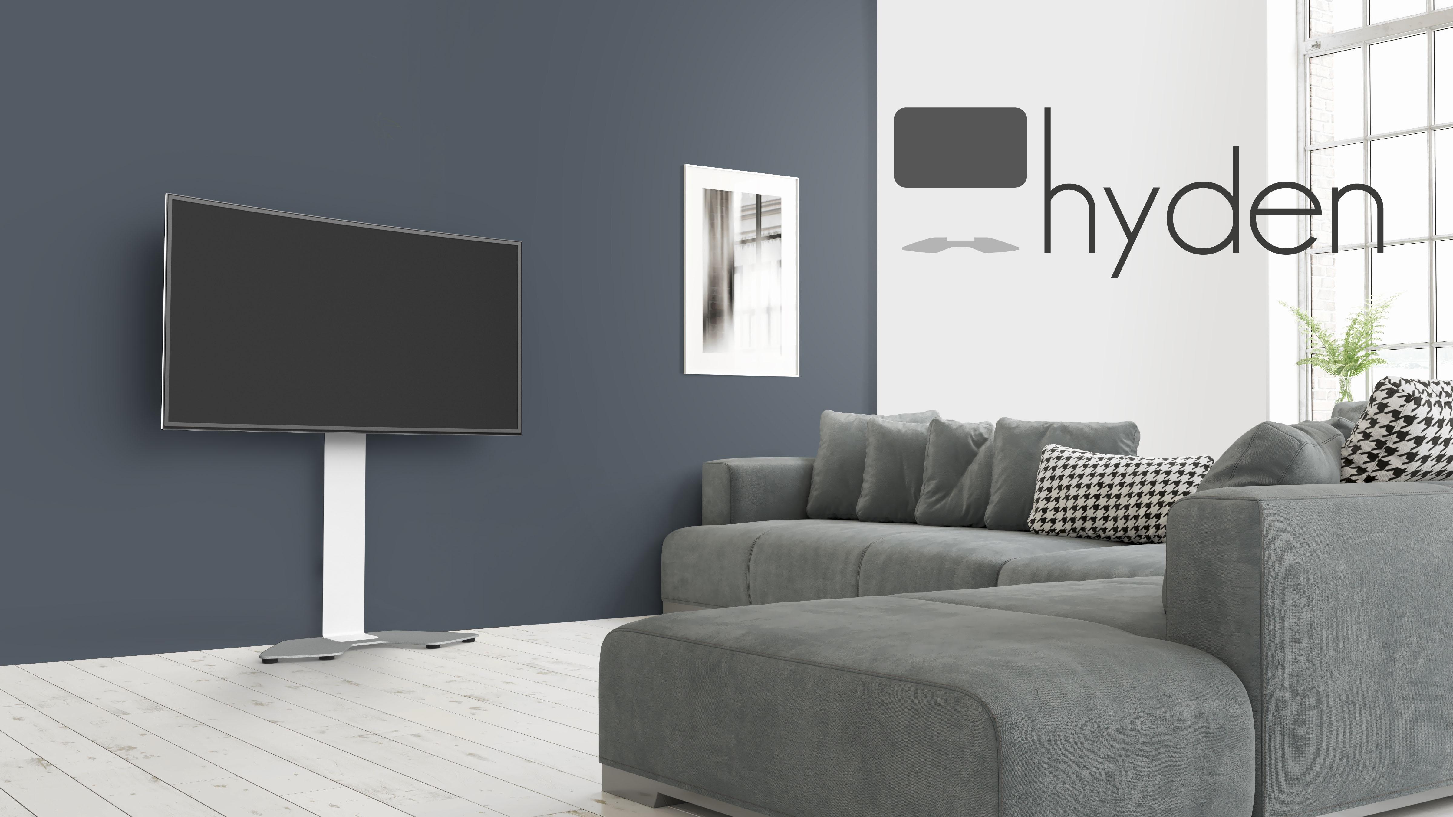 Pied technique Hyden contre le mur dans un salon.
